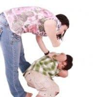 hitting children
